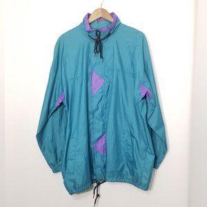 Sumaggo | Vintage Packable Windbreaker Jacket Teal